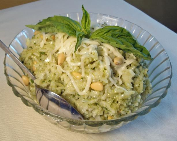 Pesto Rice With Pine Nuts