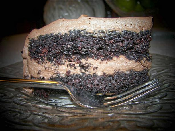 Hot Water Chocolate Cake