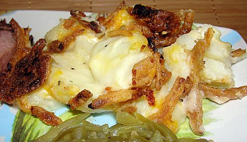 Potato Casserole With Fried Onions