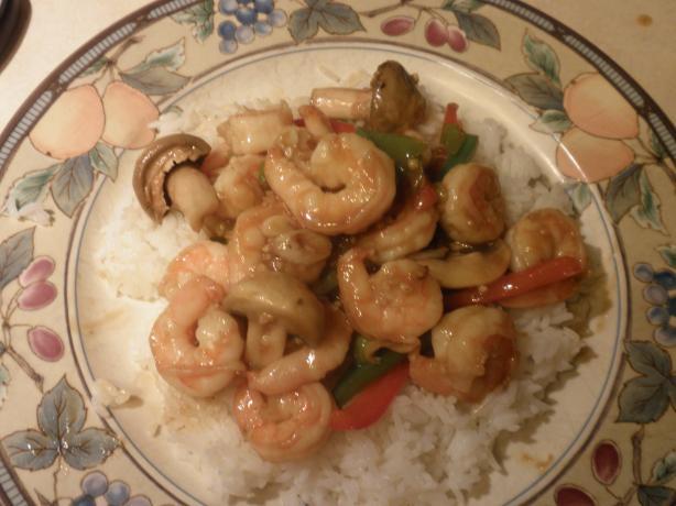 Shrimp & Peppers Stir Fry
