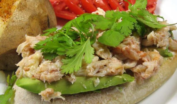 Thai -Style Open Crab Meat Sandwich
