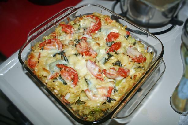 Tomato, Broccoli, and Mozzarella Casserole