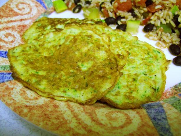Zucchini Asiago Pancakes