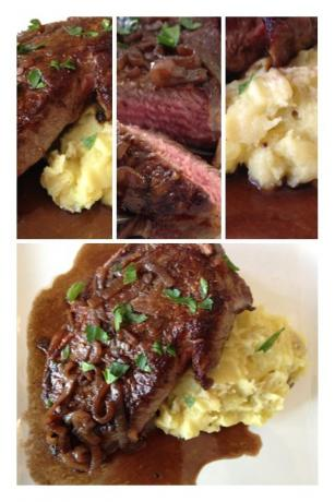 Classic Entrecote Bordelaise - Steak in Red Wine With Shallots