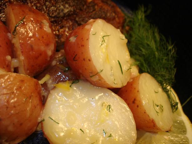 Lemon & Garlic Buttered Potatoes