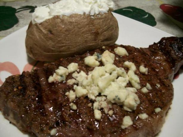 Steaks Topped With Bleu Cheese