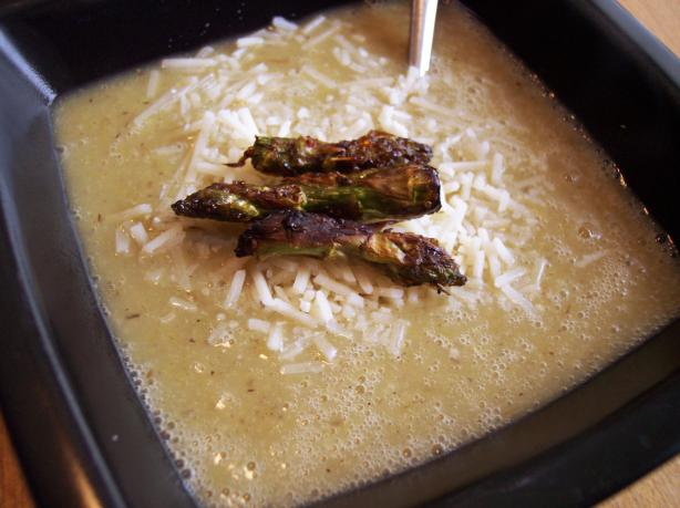 Roasted Asparagus and Potato Soup