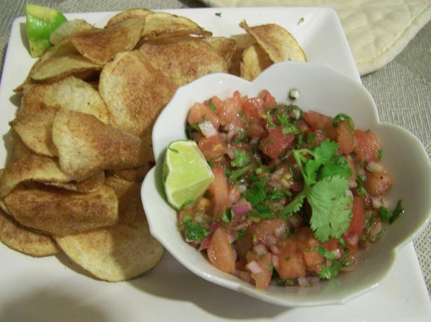 Mexican Potato Crisps With Lime Salsa
