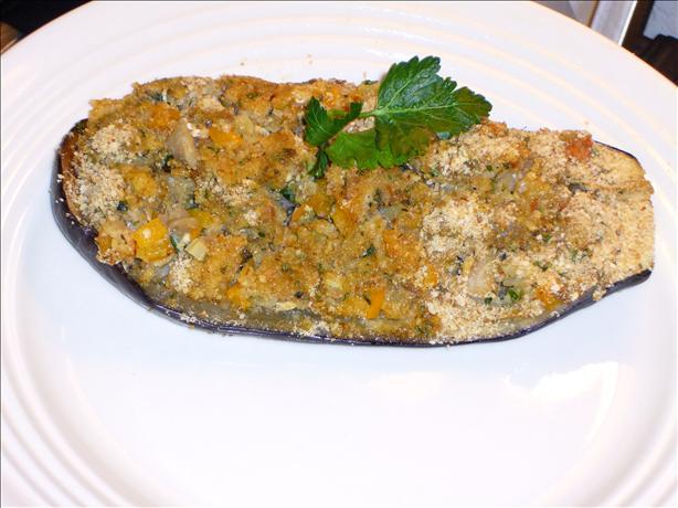 Shrimp Stuffed Eggplant (Aubergine)