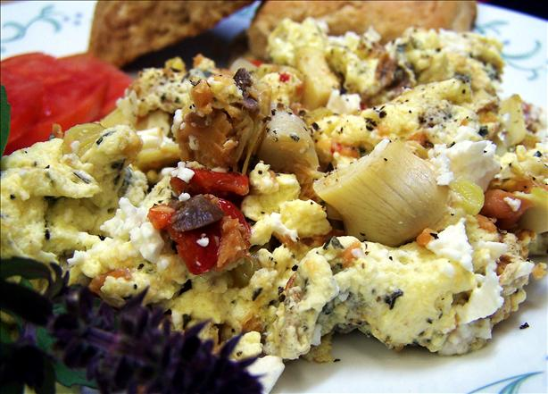 Smoked Salmon Scramble With Feta