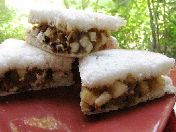 Peanut and Apple Sandwich