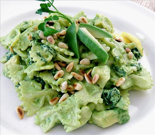 Bow Tie Pasta With Watercress and Avocado Cream Sauce