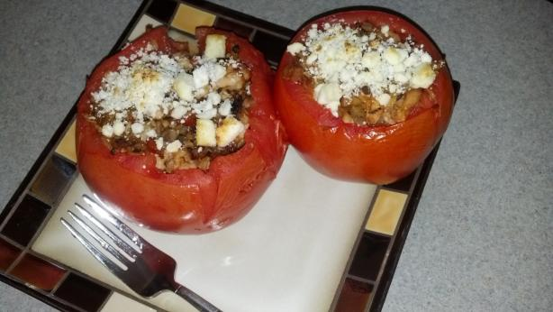 Stuffed Tomatoes W Chicken and Feta Low Fat/Low Carb