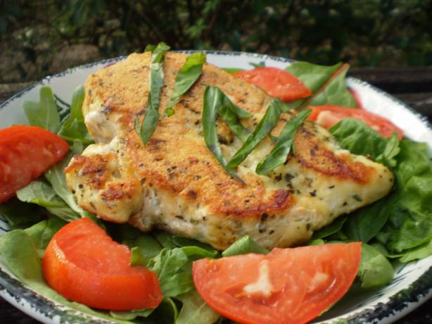Parmesan Chicken With Tomato-Basil Salad