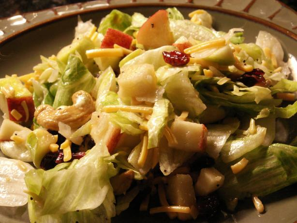 Cranberry, Pear, Apple Tossed Salad