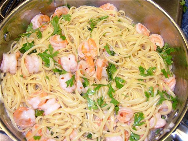 Shrimp Linguine With Basil-Garlic Butter