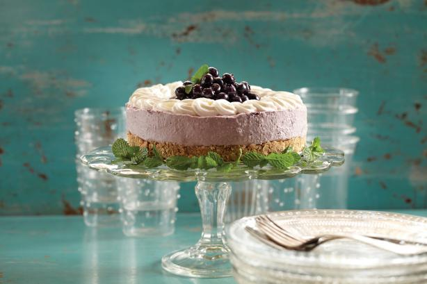 Blueberry Lemon Mousse Tart
