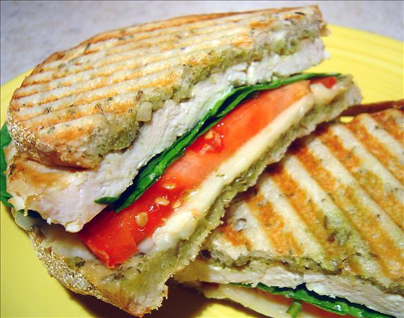 Basil Lemon Chicken Panini