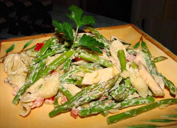 Asparagus Pasta Salad With Parmesan Dressing