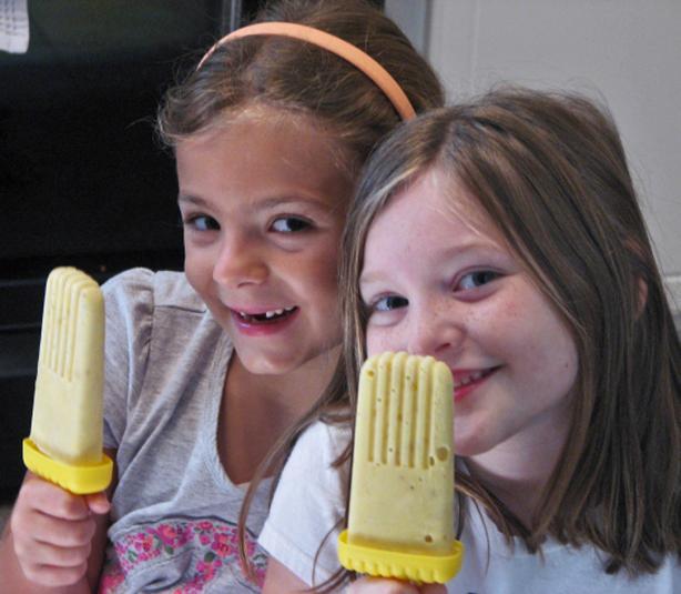 Banana Popsicles