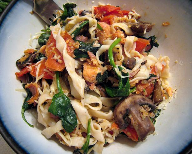 Great Northwest Smoked Salmon Pasta