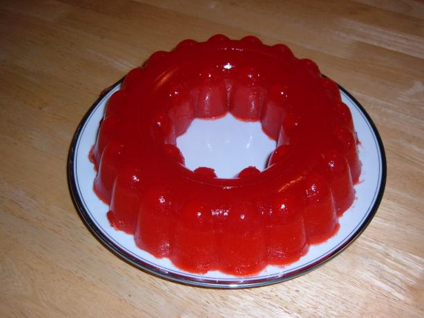 Nickey's Strawberry-Applesauce Jell-O Ring