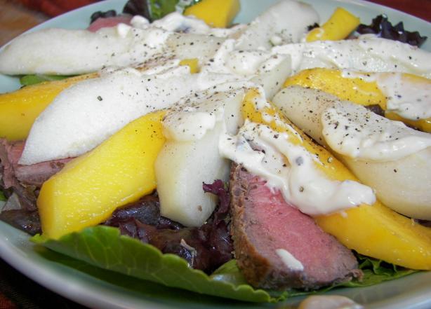 Beef, Mango & Pear Salad