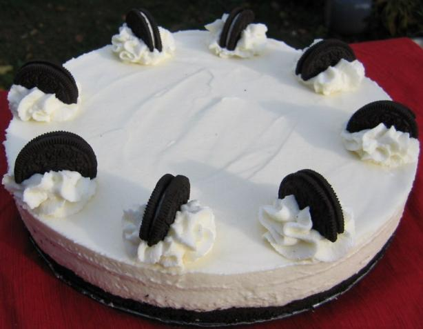 White Chocolate Mousse Torte With Oreo Cookie Crust