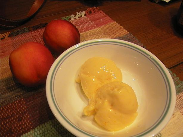 Diabetic Frozen Peach Yogurt