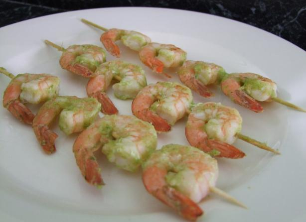 Grilled Prawns With Raw Sauce
