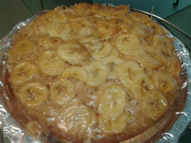 Banana Coconut Upside Down Cake