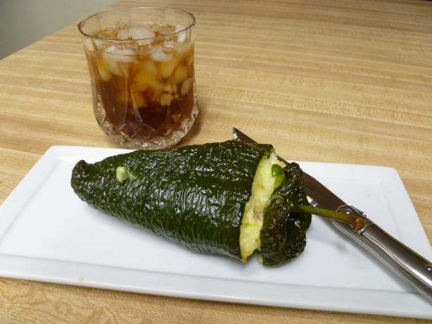 Poblano Chile Stuffed With Egg N Cheese