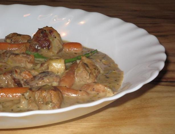 Lemon Herb Veal Stew (Crock Pot)