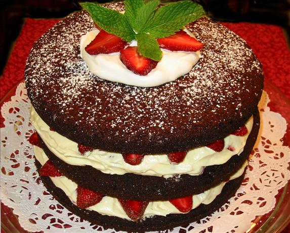 Chocolate Raspberry (Or Strawberry) Tall Cake