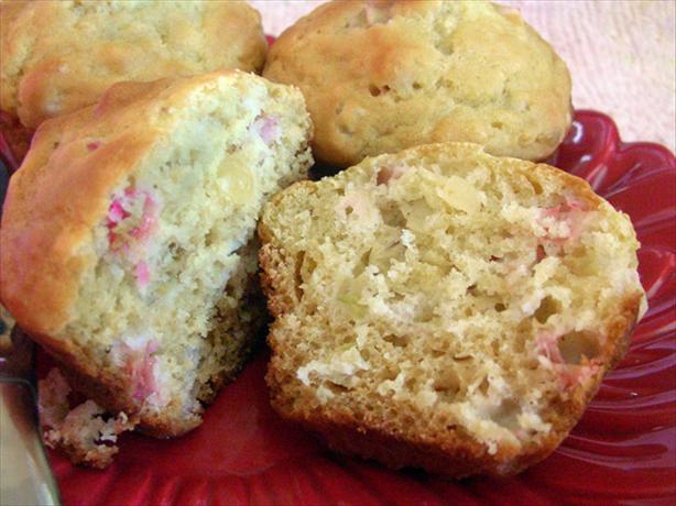 Ginger Rhubarb Muffins