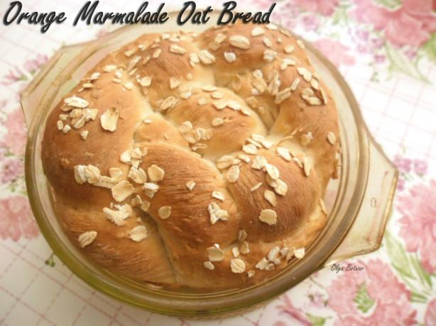 Orange Marmalade Oat Bread (Bread Machine)