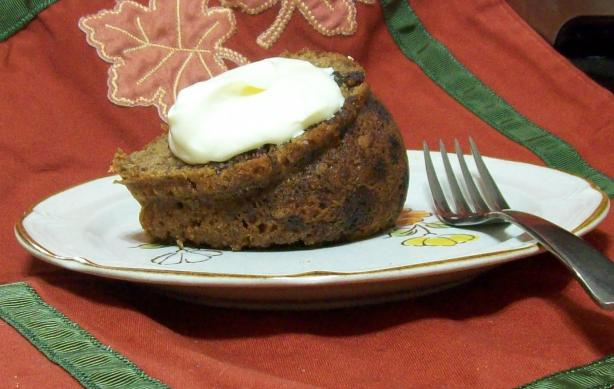 Mincemeat Spice Cake W/ Creamy Eggnog Topping