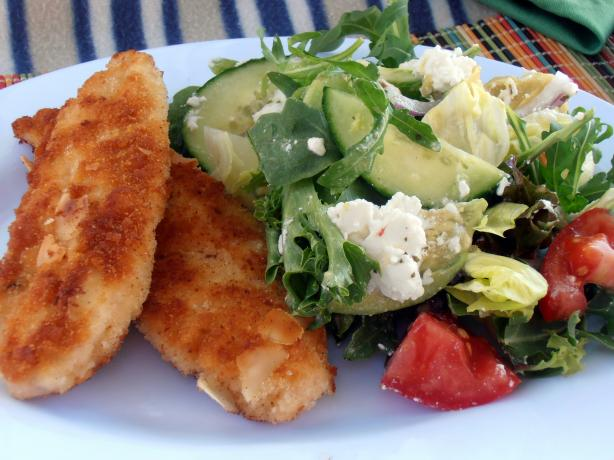 Almond Crumbed Chicken Schnitzel With Avocado Salad