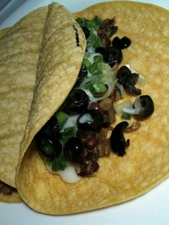 Black Bean, Zucchini, & Olive Tacos