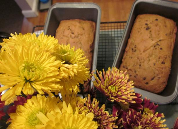 Zucchini Pumpkin Chocolate Chip Bread