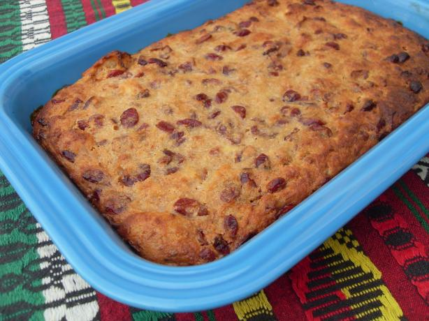 Bread Pudding with Dried Cranberries