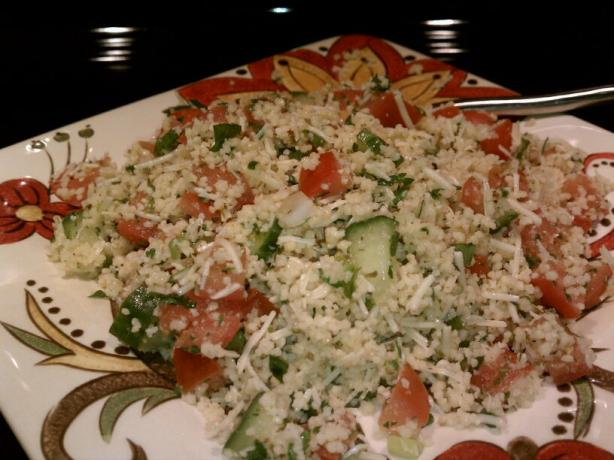 Vegetable Couscous Salad With Parmesan