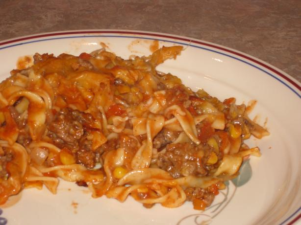 Ground Beef and Noodle Bake