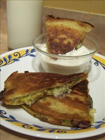 Pesto-Zucchini Quesadillas