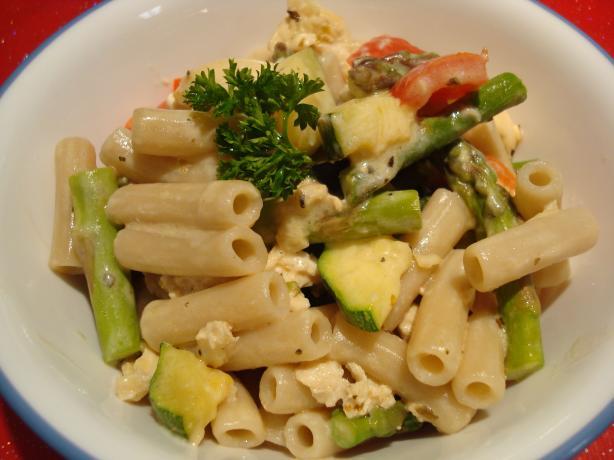 Skinny Bride's Guide to Creamy Pasta Primavera