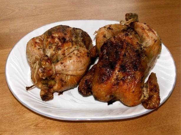 Grilled Cornish Game Hens W/Ginger Butter