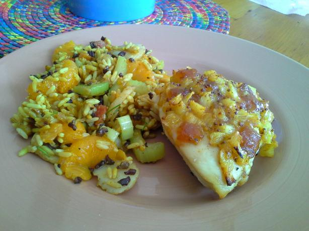 Mango Pineapple Chicken With Mandarin Rice Salad