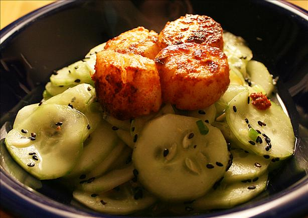 Cucumber Salad with Spicy Wasabi Dressing