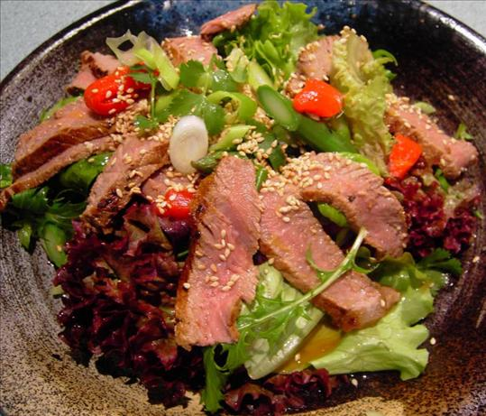 Warm Asian Steak Salad