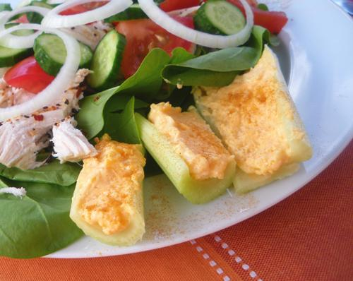 Cheddar-Stuffed Celery